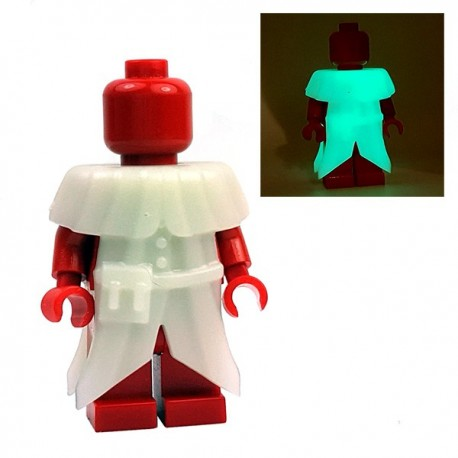 Lego Minifigure BrickWarriors - Plague Doctor Coat (Phosphorescent)