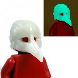 Lego Minifigure BrickWarriors - Plague Doctor Mask (Phosphorescent)