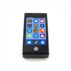 Lego Minifig Custom EclipseGrafx - Smartphone (Tile 1x2 - Noir) (La Petite Brique)