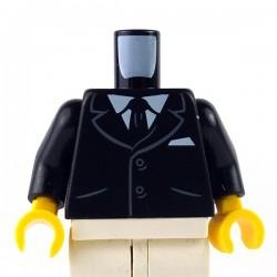 LEGO Minifig - Torse Costume 2 boutons (Noir)