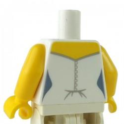 LEGO Minifig - Torse féminin Robe mariée (Blanc)