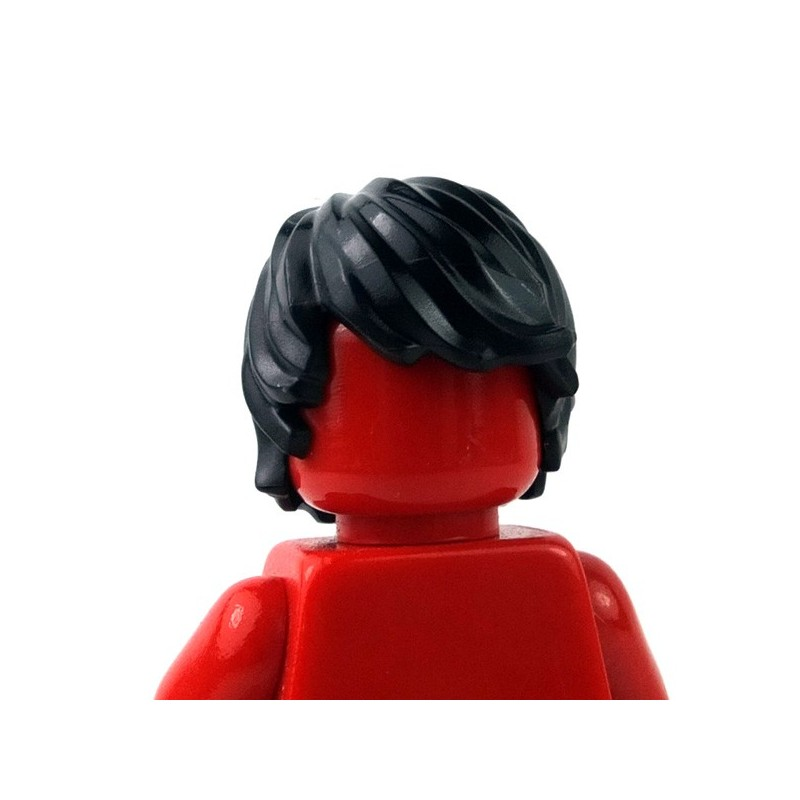 LEGO x 10 Black Minifig Hair Short Tousled with Side Part NEW