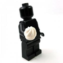 Lego - White Plate, Round 1x1 Swirled To
