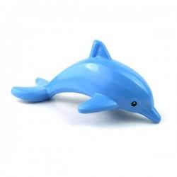 Lego - Medium Blue Dolphin, Town -Black Eyes