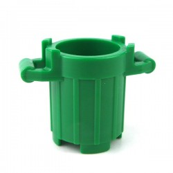 Lego - Green Container, Trash Can with 4 Cover Holders