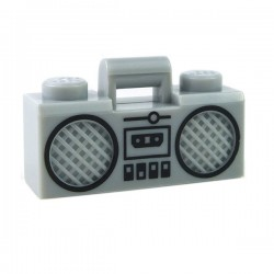 Lego Minifigure - Radio Boom Box (Gris Clair)