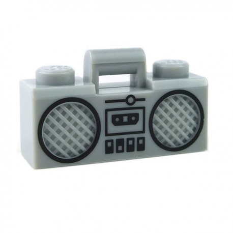 Lego Minifigure - Radio Boom Box (Gris Clair)