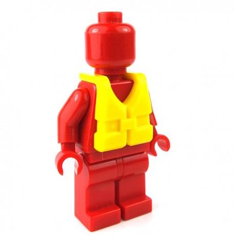 LEGO Minifigure - Gilet Sauvetage (Jaune)