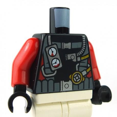 LEGO Minifigure - Torse Tenue de plongée sous marine