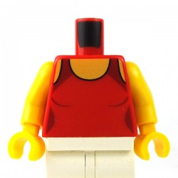 LEGO - Red Torso Female Swimsuit, Neck & Crossed Straps on Back
