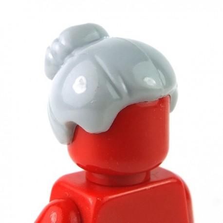 Lego Minifigure - Cheveux chignon (Light Bluish Gray)