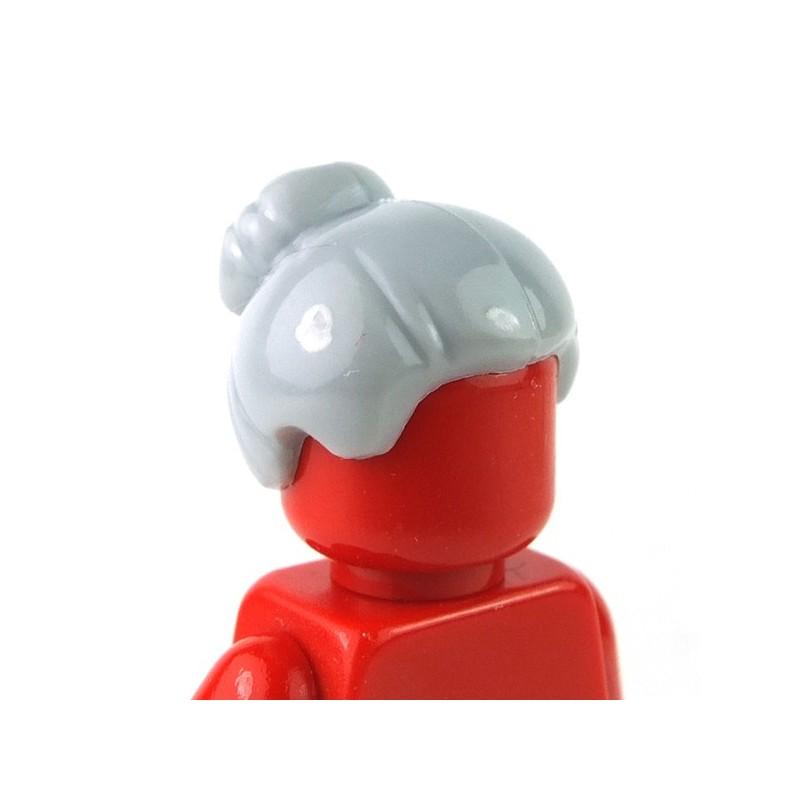 LEGO Dark Tan Headgear Hair Female w// Top Knot Bun /& Forelock Minifig