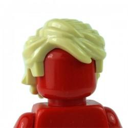Lego Minifigure - Cheveux balayés ébouriffés (Beige)