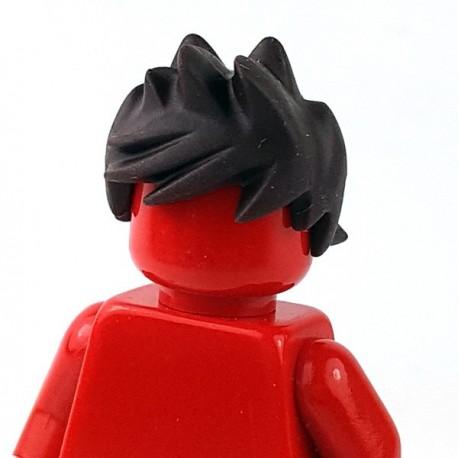 Lego Minifigure - Cheveux fortifiés et ébouriffés (Dark Brown)
