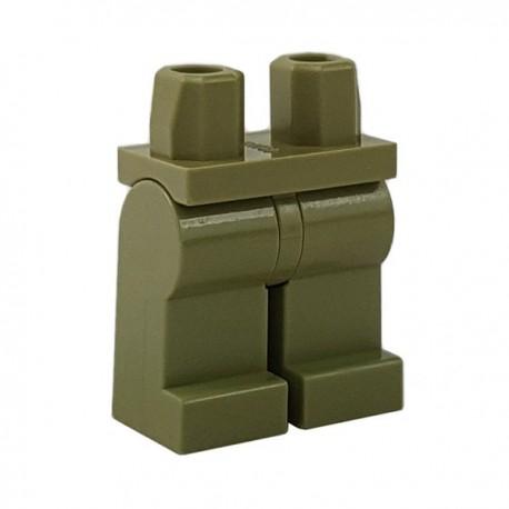 Lego Minifigure - Jambes (Vert Olive)