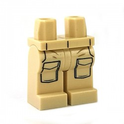 Lego Minifigure - Jambes avec poches (Beige Clair)