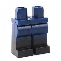 LEGO Minifigure - Jambes avec des bottes noires (Dark Blue)