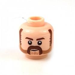 Lego Minifigure - Tête masculine, chair, 67