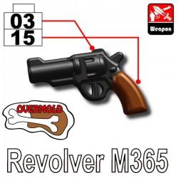 Lego Minifigure Si-Dan Toys - Revolver M365 (Black/Brown)