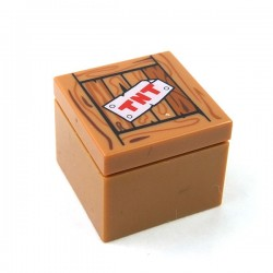 Lego - Brick & Tile 2x2 'TNT' on Wood Grain