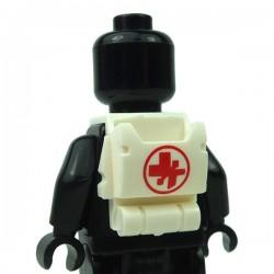 Lego Accessoires Minifigure Clone Army Customs - Open Back Pack Symbole Médical