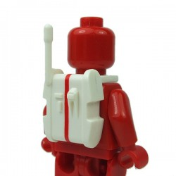 Lego Accessoires Minifigure Clone Army Customs - Ranged Back Pack Rouge