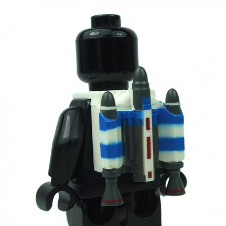 Lego Accessoires Minifigure Clone Army Customs - Trooper Jetpack Blue Captain