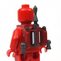 Lego Accessoires Minifigure Clone Army Customs - Hunter Jetpack Fett Dark Red
