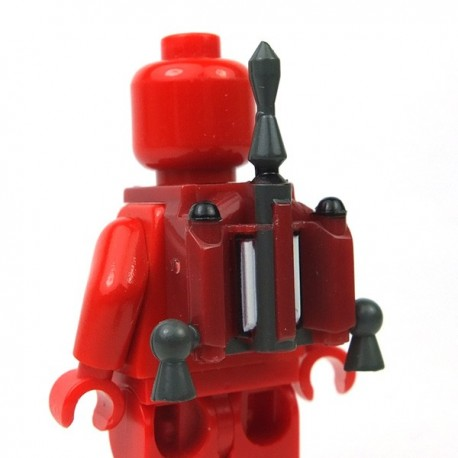 Lego Accessoires Minifigure Clone Army Customs - Hunter Jetpack Fett Dark Red