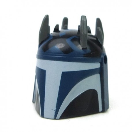 Lego Accessoires Minifigure Clone Army Customs - Casque Super Mando Mawl (Dark Blue)