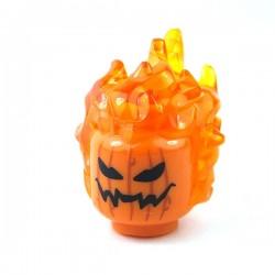 LEGO - Tête Citrouille avec cheveux de feu