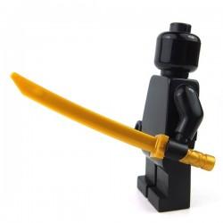 Lego Accessoires Minifigure - Katana, manche carré (Pearl Gold)