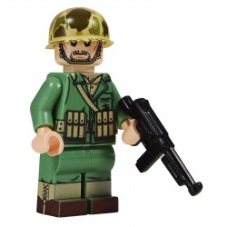 United Bricks Soldat Américain Marine Thompson WW2 LEGO Minifigure