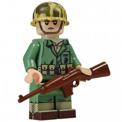 United Bricks Soldat Américain Marine Carbine WW2 LEGO Minifigure