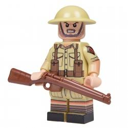 United Bricks Desert British Soldier LEGO Minifigure