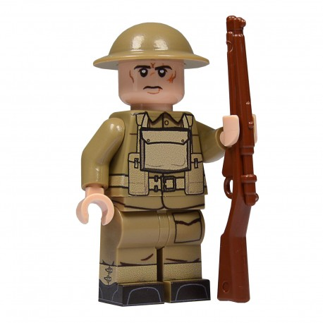 United Bricks Early WW2 British (BEF) British Expeditionary Force LEGO Minifigure