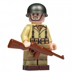 United Bricks Soldat US Infanterie WW2 LEGO Minifigure