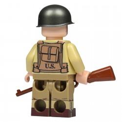 United Bricks WW2 US Infantry Soldier LEGO Minifigure