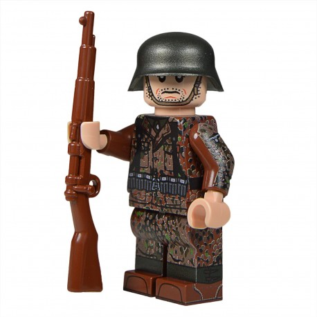 United Bricks WW2 Soldat Allemand Dot 44 (Kar98k) MilitaireLEGO Minifigure