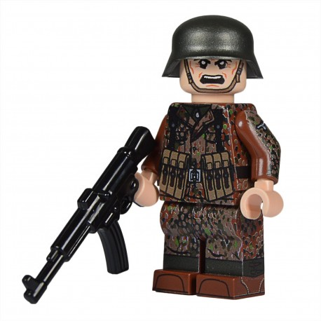 United Bricks WW2 Soldat Allemand Dot 44 (STG44) MilitaireLEGO Minifigure