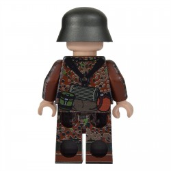United Bricks WW2 Soldat Allemand Dot 44 (STG44) MilitaireLEGO Minifigure