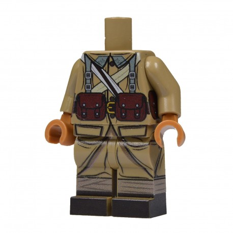 United Bricks Torse + Jambes Torse + Jambes Torse + Jambes WW2 Français LEGO Minifigure Militaire