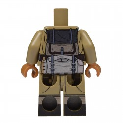 United Bricks Torso + Legs Torso + Legs Torso + Legs WW2 French LEGO Minifigure military