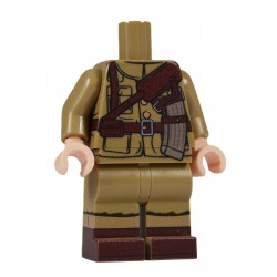United Bricks Torse + Jambes WW2 Danois (Jutland Dragoons) LEGO Minifigure Militaire