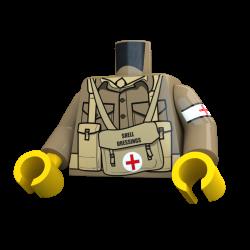 United Bricks Torso WW2 British Medic LEGO Minifigure military