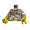 United Bricks Torso WW2 British Medic LEGO Minifigure military