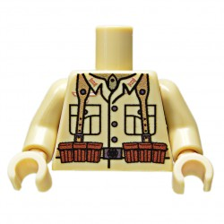 United Bricks Torso WW2 German DAK KAR LEGO Minifigure military