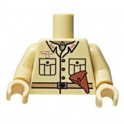 United Bricks Torse WW2 Allemand DAK Officer LEGO Minifigure Militaire