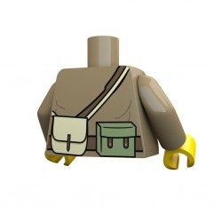United Bricks Torse WW2 Russe PPSH LEGO Minifigure Militaire