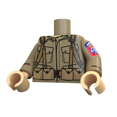 United Bricks Torse Torse WW2 Airborne 82nd LEGO Minifigure Militaire